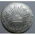 1893 - MEXICO - 8 REALES -  GORRO - AGUILA- PLATA