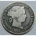 1861 - SEVILLA - 2 REALES - ISABEL II