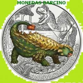 2020 - ANKYLOSAURUS - 3 EUROS - AUSTRIA - COLOR