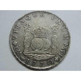 1770 - LIMA - 8 REALES - COLUMNARIO - CARLOS III