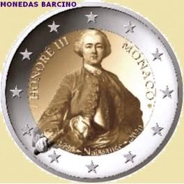 2020 - HONORE III - 2 EUROS - MONACO - PROOF