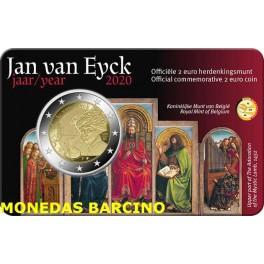 2020 - JAN VAN EYCK - 2 EUROS - BELGICA - HOLANDES COINCARD