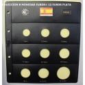 2002 - PARDO - HOJAS  COLECCION  EUROS 9 esp.