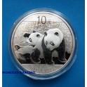 2010 - CHINA - ONZA - 10 YUAN -OSO PANDA - PLATA