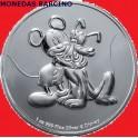 2020 - NIUE - 1 ONZA - 2 DOLLARS -  MICKEY Y PLUTO - DISNEY