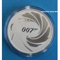 2020  - TUVALU - 1  ONZA - 1 DOLLAR - 007 JAMES BOND - PLATA