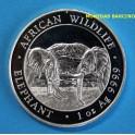 2020 - SOMALIA - AFRICA - 1 ONZA - 100 SHILLINGS -ELEFANTE  - WILDLIFE