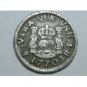 1770 - BOLIVIA POTOSI - 1/2 REAL -CARLOS III