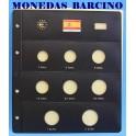 2001 - PARDO - HOJA  COLECCION EUROS 8 ESPACIOS