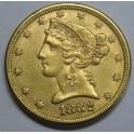 1882 - 5 DOLLARS - ESTADOS UNIDOS  -LIBERTY HEAD