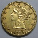 1886 - 5 DOLLARS - ESTADOS UNIDOS - LIBERTY HEAD
