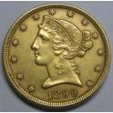 1899 - 5 DOLLARS - ESTADOS UNIDOS  -LIBERTY HEAD