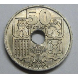 1949 - 51- FECHAS INVERTIDAS - 50 CENTIMOS- FRANCO