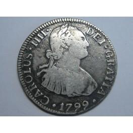 1799 - MEXICO - 2 REAL - CARLOS IV - PLATA