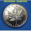 1999 - CANADA -1 ONZA - 5  DOLLAR - HOJA ARCE
