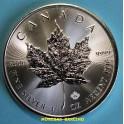 2020 - CANADA - 1 ONZA - 5 DOLLARS PLATA - HOJA ARCE - MAPLE