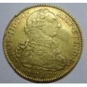 1787 - 8 ESCUDOS - CARLOS III - NUEVO REINO DE GRANADA -