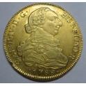 1789 - 8 ESCUDOS - CARLOS IV - SANTIAGO DE CHILE-