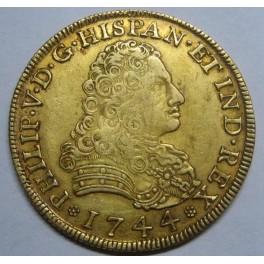 1744 - 8 ESCUDOS - FELIPE V - MEXICO - NUEVA ESPAÑA