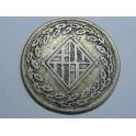 1811 -  BARCELONA - 1 PESETA - NAPOLEON -plata