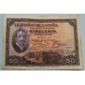 1927- ALFONSO XIII - 50 PESETAS - MADRID
