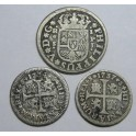 1734-1737-1738 -SEVILLA-1/2 y 1 REAL -FELIPE V