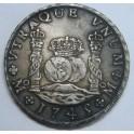 1745 - MEXICO - 8 REALES -COLUMNARIO - FELIPE V
