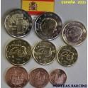 2021 - ESPAÑA -  EUROS - 9 MONEDAS - TOLEDO