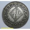 1810- BARCELONA - 5 PESETA - NAPOLEON -plata