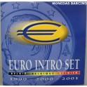 1999-2000-2001 - BELGICA - EUROS - 24 MONEDAS - BLISTER