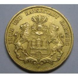 1900-Hamburg-20-goldmark-germany