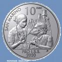 2020 -  SAN MARINO - 10 EUROS - Covid state of emergency