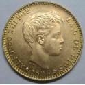 1896 -20 PESETAS -19 - 62 REACUÑACION OFICIAL