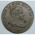 1846 - SEGOVIA - 4 MARAVEDIS - ISABEL II