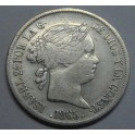 1865 - 20 CENTAVOS PESO - MANILA - ISABEL II