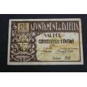 1937- CALELLA - 50 CENTIMOS- BARCELONA - BILLETE