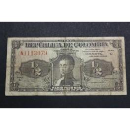 1948 - NARIÑO- 1/2 PESO ORO- COLOMBIA BOGOTA