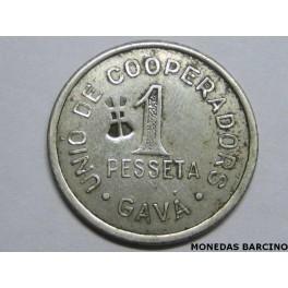 GAVA - 1 PESETA - UNIO- COOPERATIVA