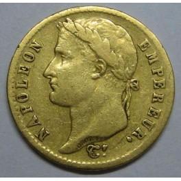 1813- FRANCIA - 20 FRANCOS -ORO - NAPOLEON-PARIS