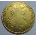 1798 - 8 ESCUDOS - CARLOS IV - SANTIAGO DE CHILE-