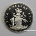 1973- ESCUDO - 5 DOLLARS - BAHAMAS