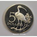 1975 -TRINIDAD TOBAGO - 5 DOLLARS - SCARLET