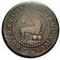 1835-Manila 2 Quartos  Philippines- Isabella II