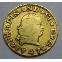 1747 - FERNANDO VI - 1/2 ESCUDO -SEVILLA -ORO