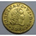 1756 - FERNANDO VI - 1/2 ESCUDO -MADRID -ORO