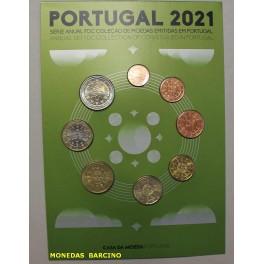2021 - PORTUGAL - EUROS - BLISTER - 8 MONEDAS