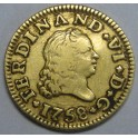 1758 - SEVILLA - 1/2 ESCUDO - FERNANDO VI -ORO