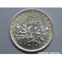 1969 - FRANCIA  - 5 FRANCS - PLATA