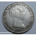 1854 - BARCELONA - 10 REALES - ISABEL II - ESPAÑA