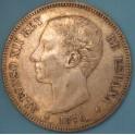 5 Pesetas 1876. www.casadelamoneda.com